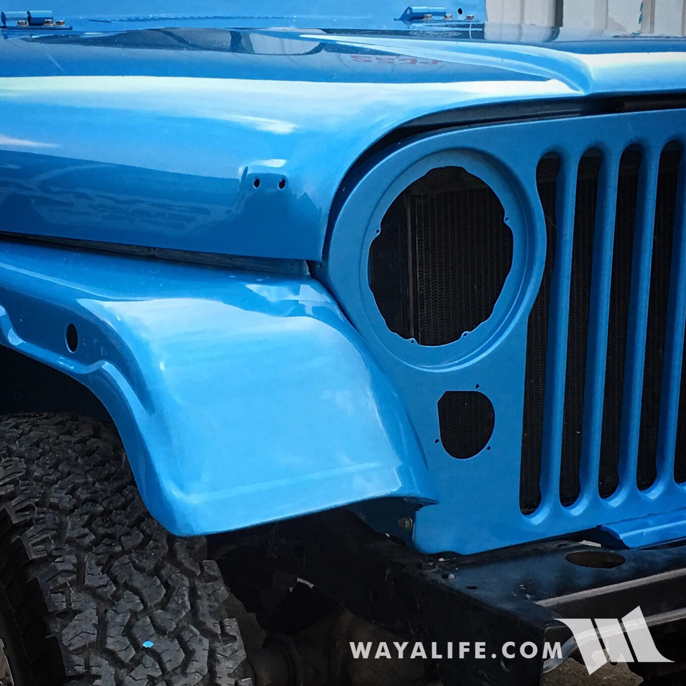 CJ5 Renegade painted Jetset Blue Metallic