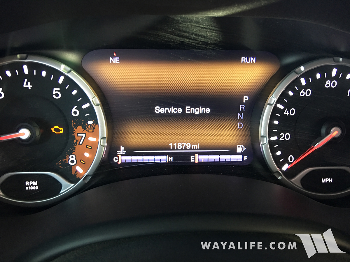 Jeep Renegade Service Engine Light