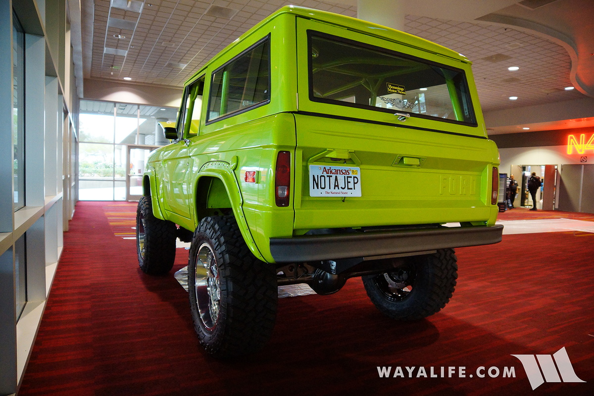 2016 Sema Hack Shack Lime Green Early Bronco