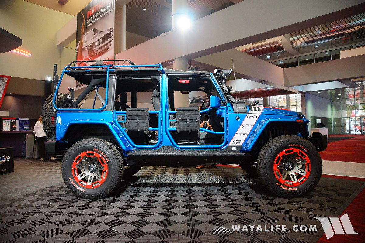 2016 sema omix ada sema cares jeep jk wrangler unlimited for Garage jeep bourges