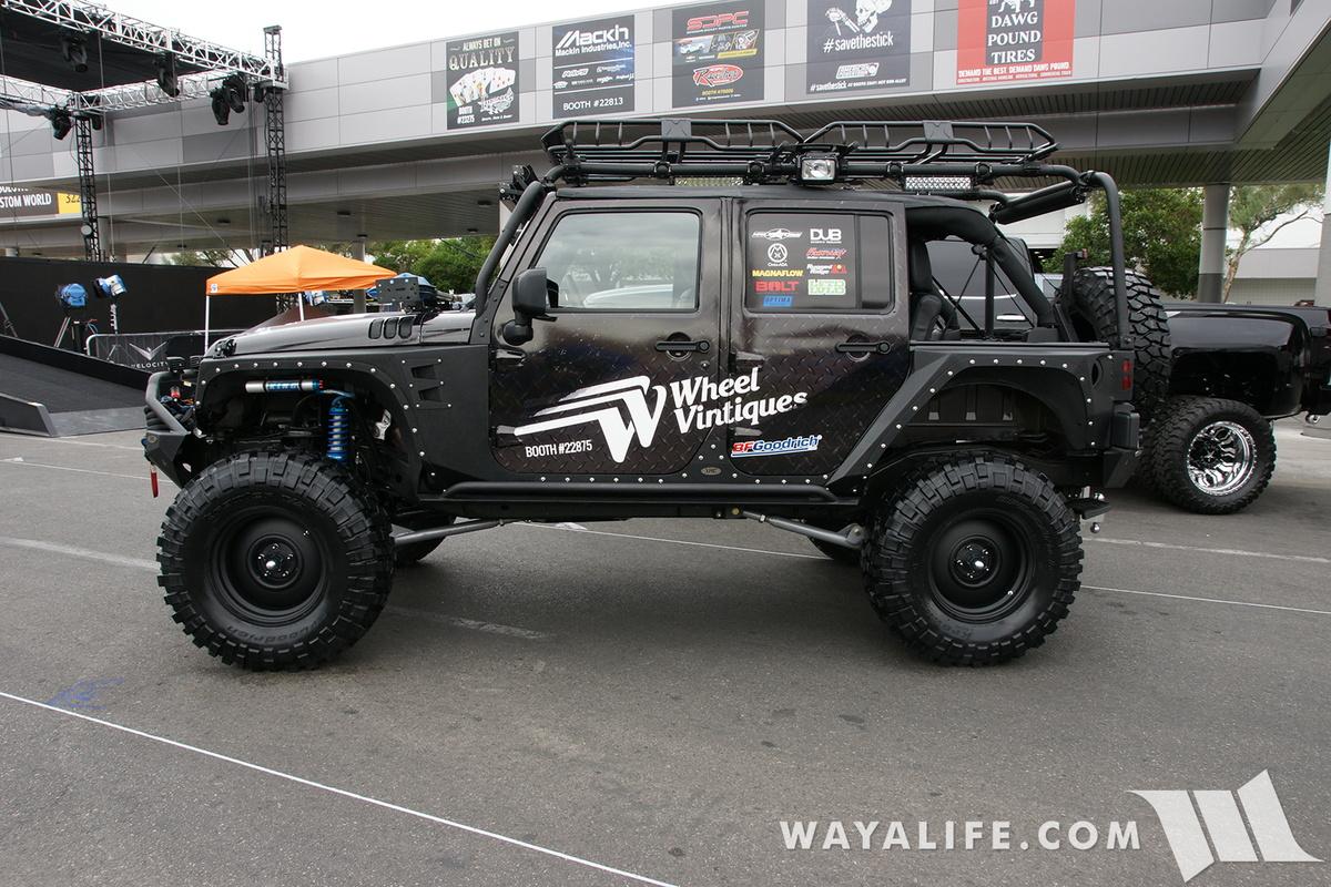 sema 2016 wheel vintique jeep jk wrangler unlimited. Black Bedroom Furniture Sets. Home Design Ideas