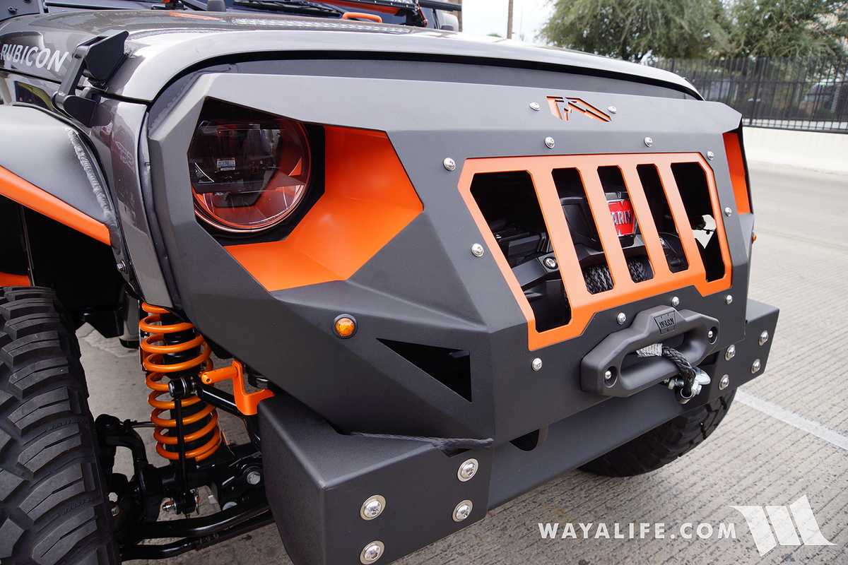 2016 sema   fab four granite  orange jeep jk wrangler unlimited