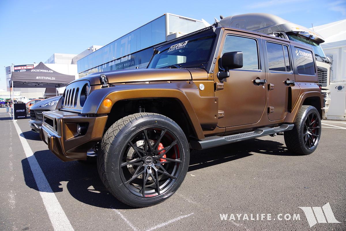 2016 sema fittipaldi sport wheels jeep jk wrangler. Black Bedroom Furniture Sets. Home Design Ideas