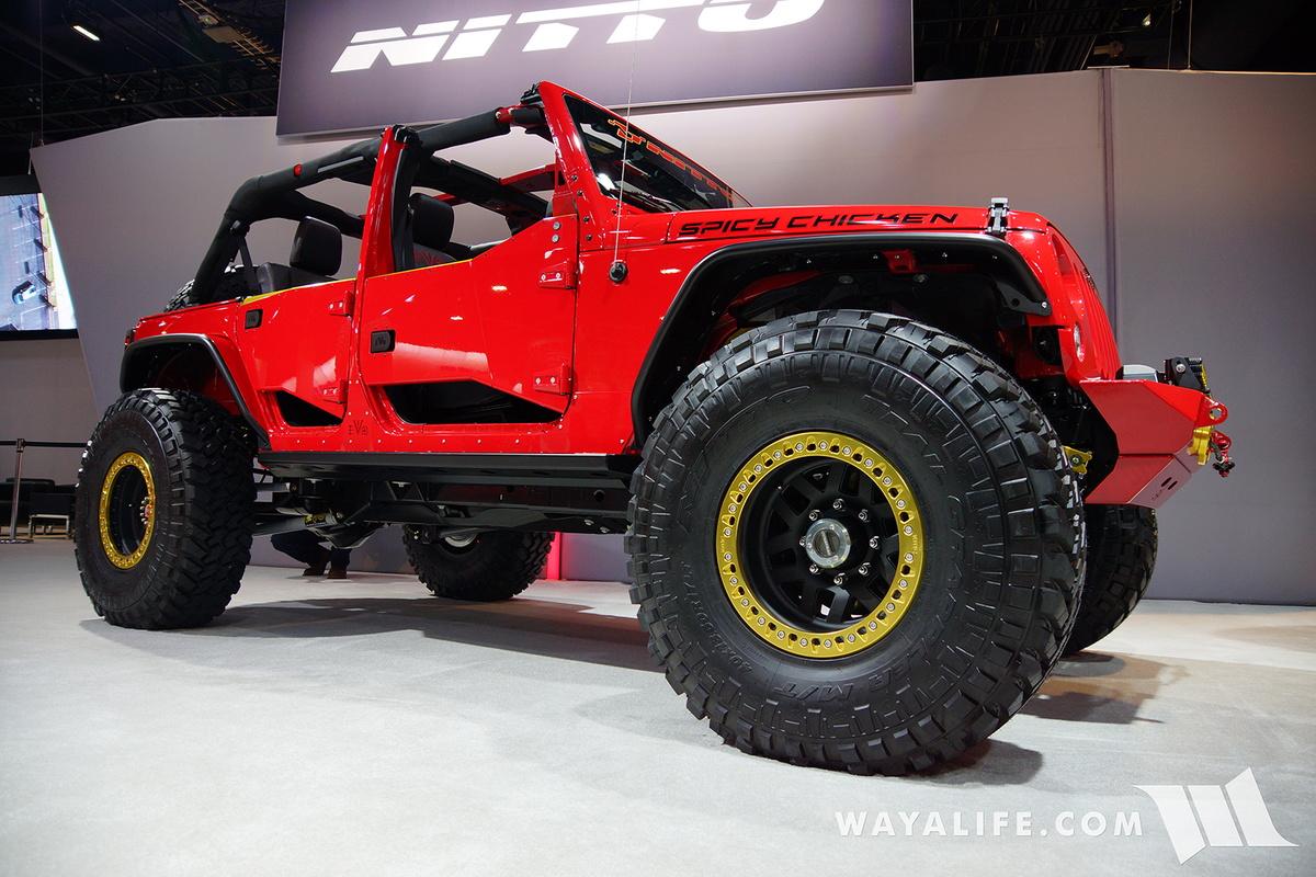 2016 Sema Nitto Tire Evo Spicy Chicken Jeep Jk Wrangler
