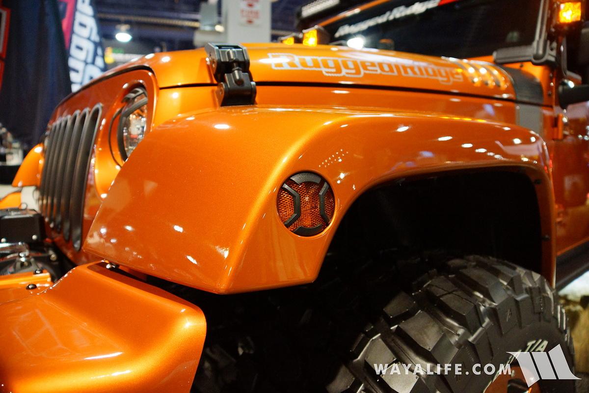 2016 Sema Rugged Ridge Orange Jeep Jk Wrangler Unlimited