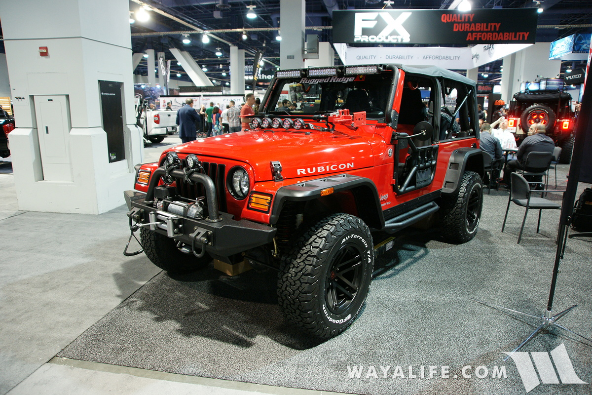 2016 sema rugged ridge red jeep lj wrangler. Black Bedroom Furniture Sets. Home Design Ideas