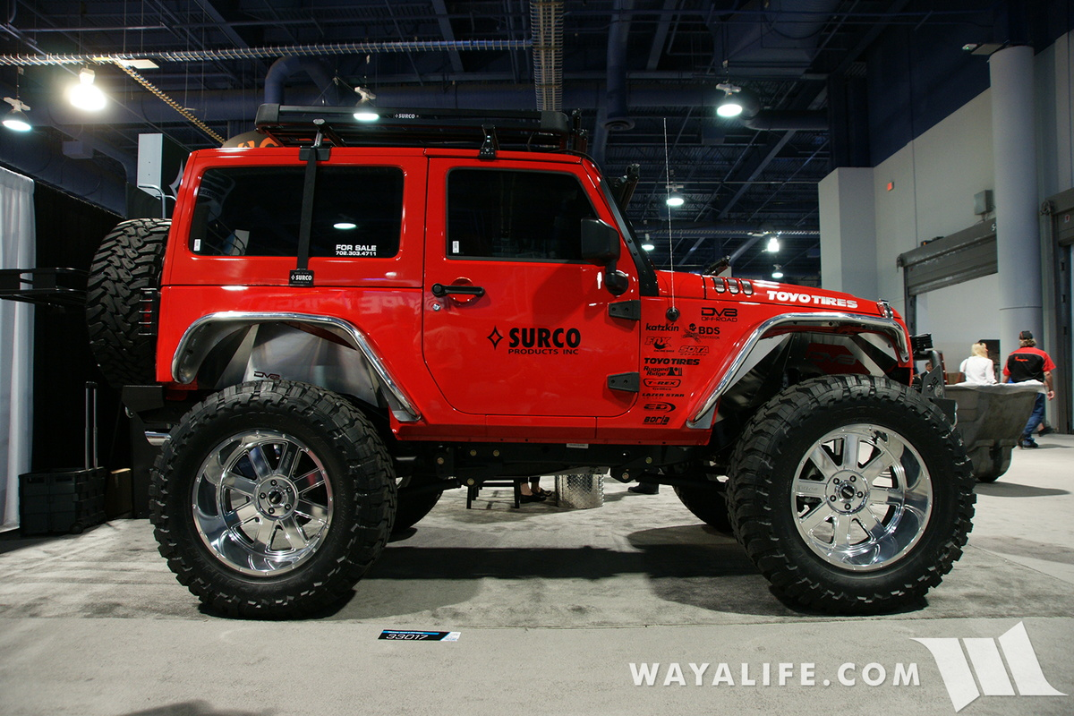 have been jeep jk wranglers at the sema show i swear i have seen this 2 door there that s brought out by surco only they change the color