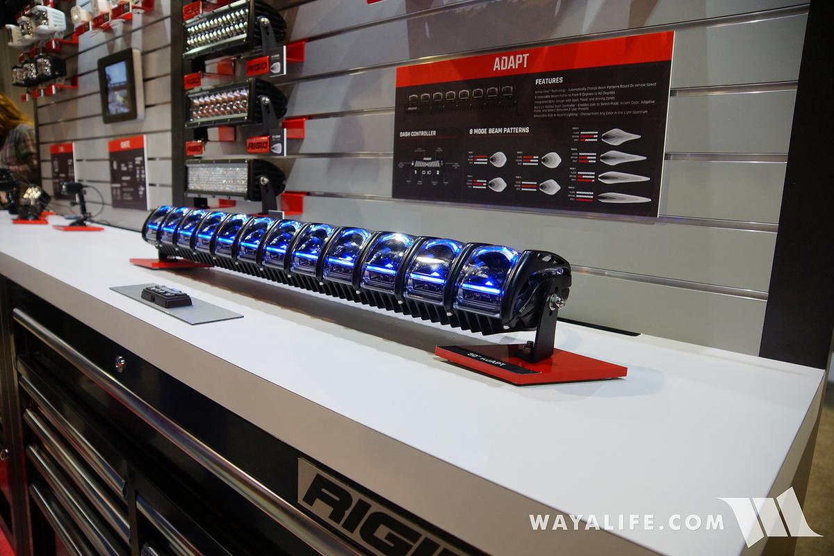 Blue Jeep Renegade >> 2016 SEMA : Rigid Adapt Active View Lights