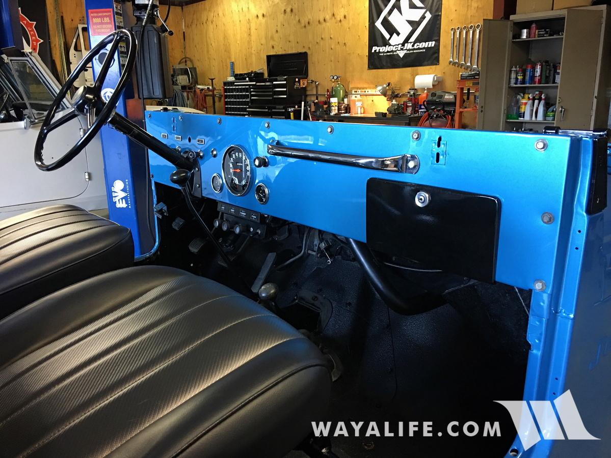 WAYALIFE's Calamity Jane - 1974 CJ5 Renegade Dash in Jetset Blue Metallic