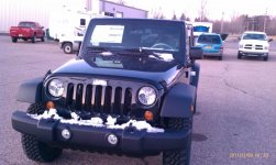 New Jeep at the dealer, just got off the truck.