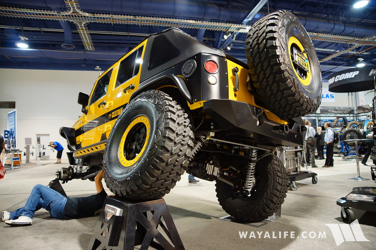 2016 SEMA : Poison Spyder/Rubicon Express Beatrix Jeep JK ...