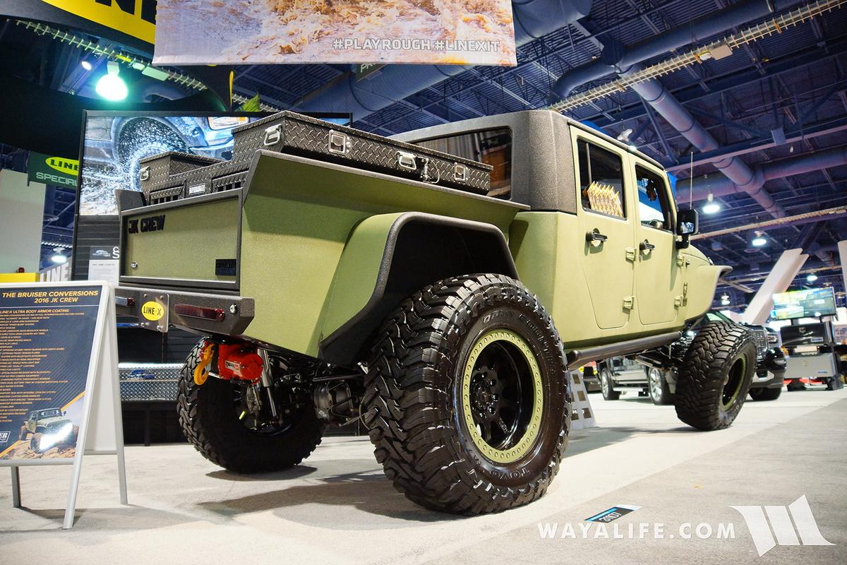 2016 SEMA : Line-X JK Crew Bruiser Conversions Jeep ...