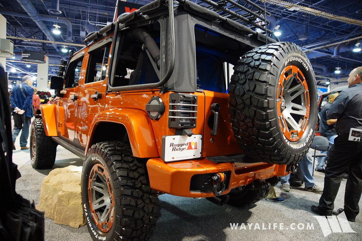 2016 SEMA : Rugged Ridge Orange Jeep JK Wrangler Unlimited