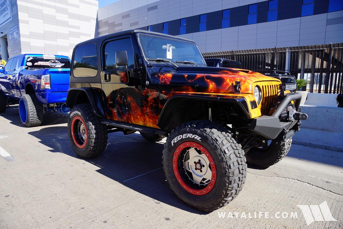 2017 SEMA GO4LIFE Black/Flames Jeep TJ Wrangler