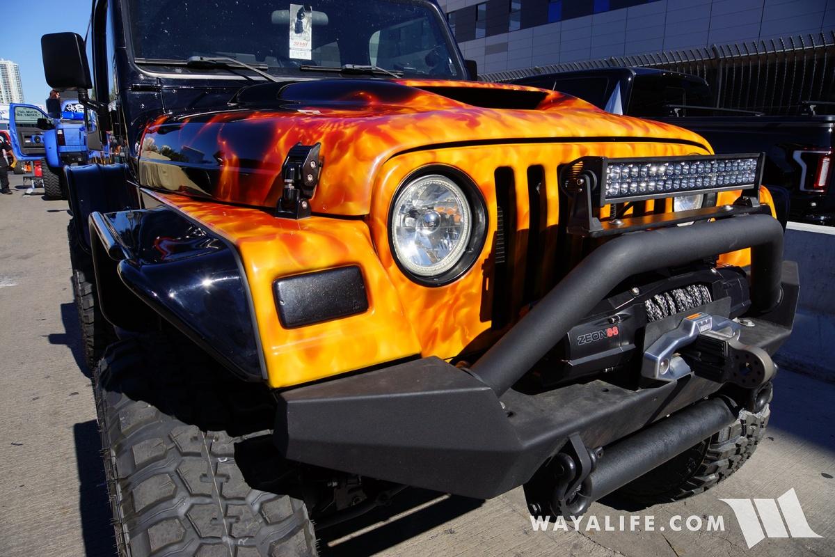 2015 Jeep Willys >> 2017 SEMA GO4LIFE Black/Flames Jeep TJ Wrangler
