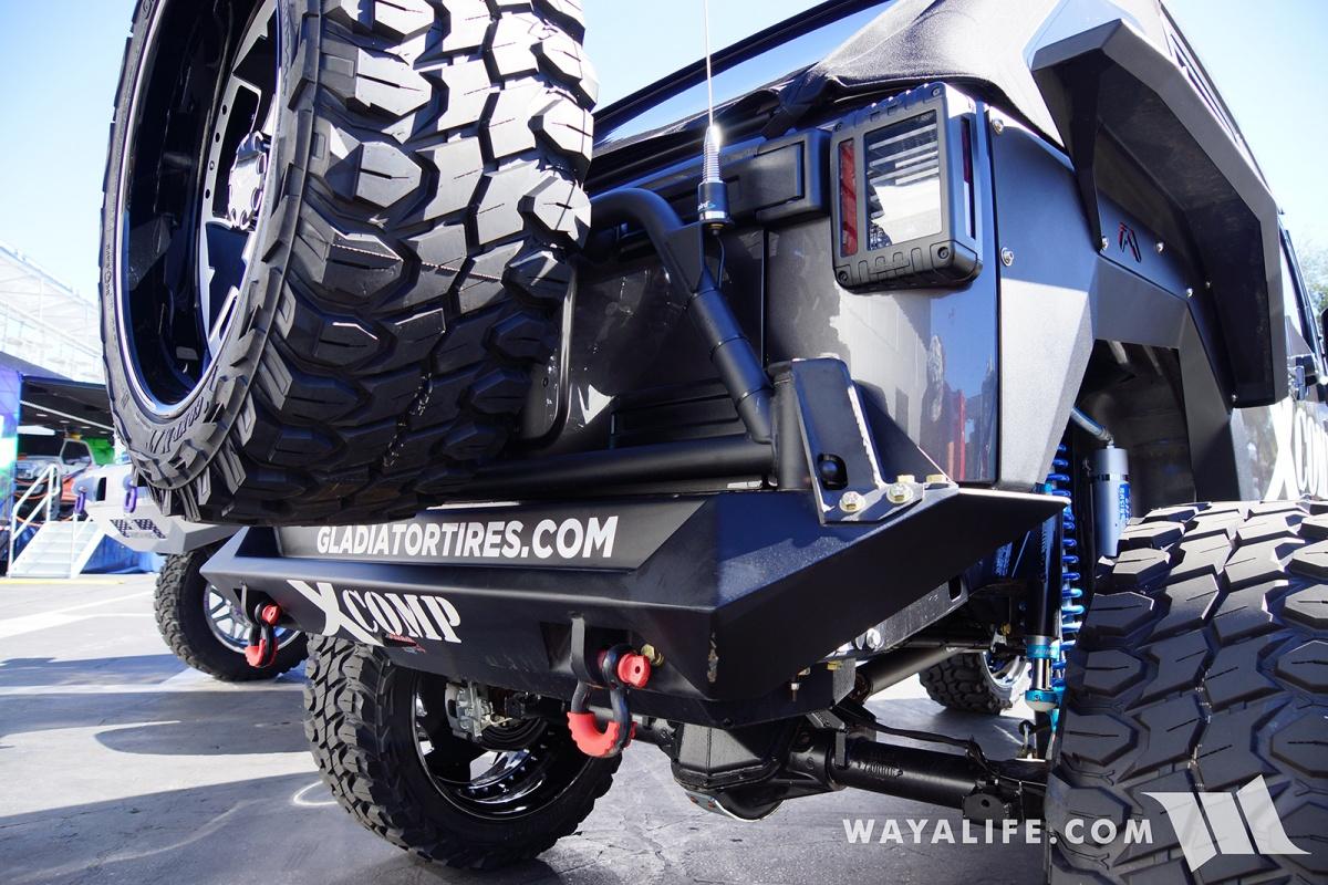 2017 Jeep Wrangler Unlimited Accessories >> 2017 SEMA Gladiator XComp Tires Black Jeep JK Wrangler ...