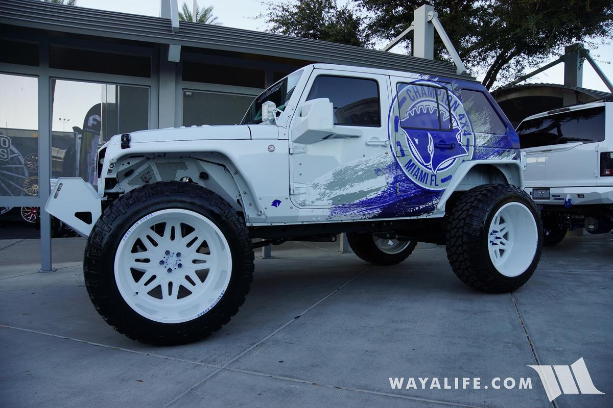 Jeep Wrangler Accessories 2017 >> 2017 SEMA Champion 4x4 White Jeep JK Wrangler Unlimited