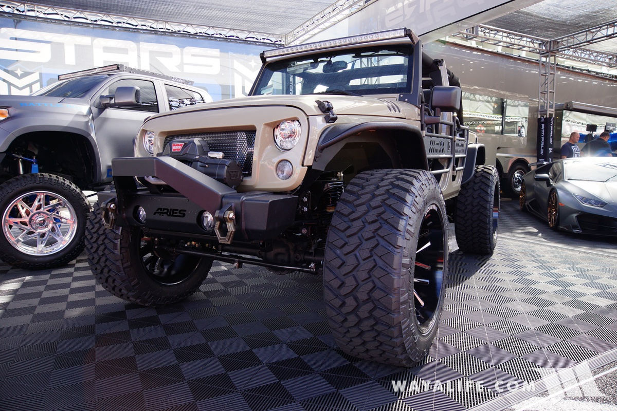 2017 sema dropstars forged wheels tan jeep jk wrangler unlimited