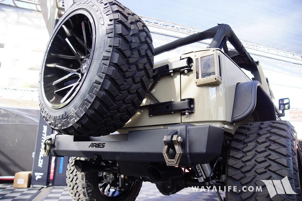 2017 Sema Dropstars Forged Wheels Tan Jeep Jk Wrangler