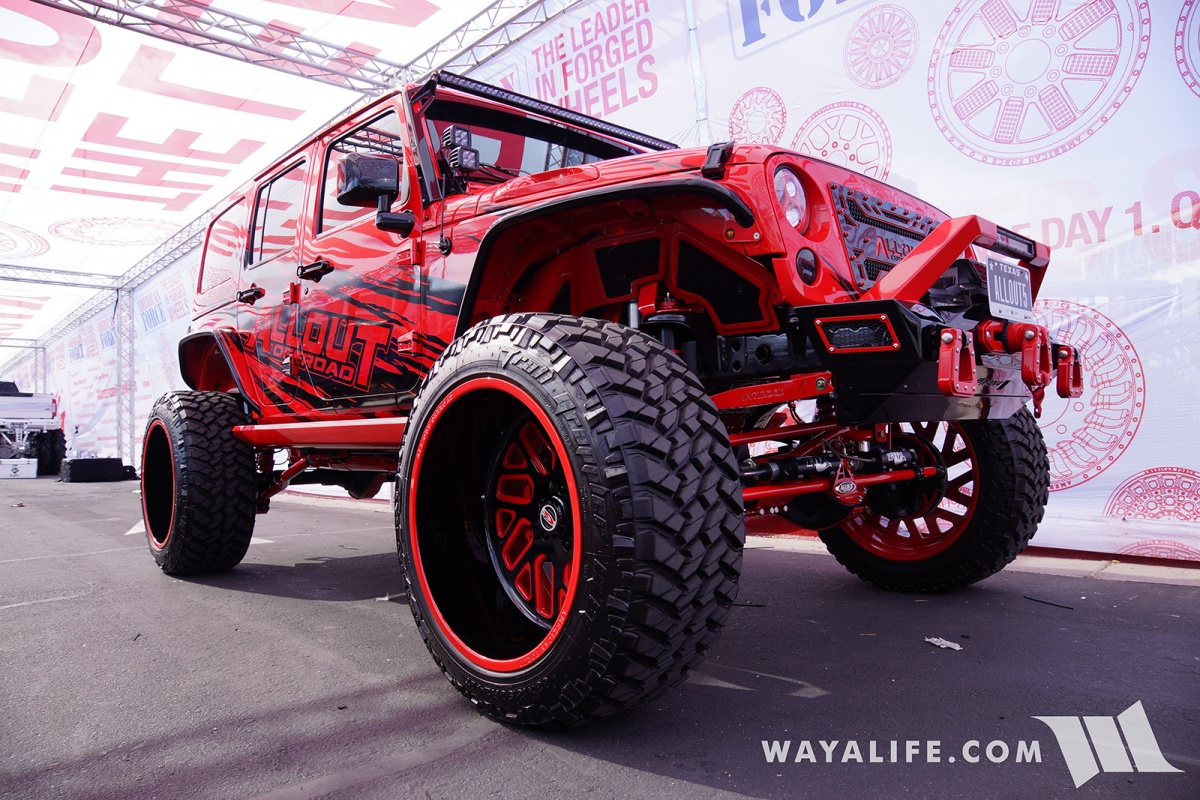 All Out Offroad >> 2017 Sema American Force Wheels Allout Offroad Red Jeep Jk