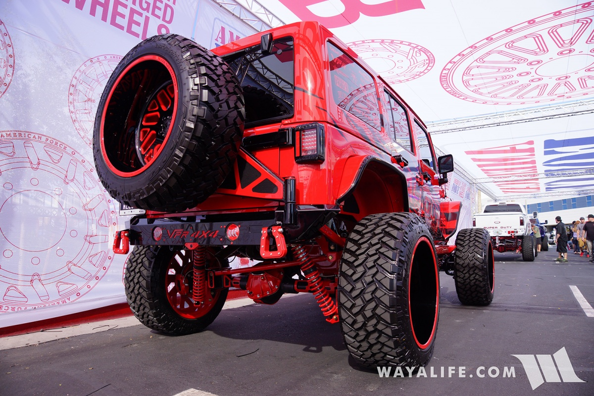 Jeep Wrangler Accessories 2017 >> 2017 SEMA American Force Wheels / AllOut OffRoad Red Jeep ...