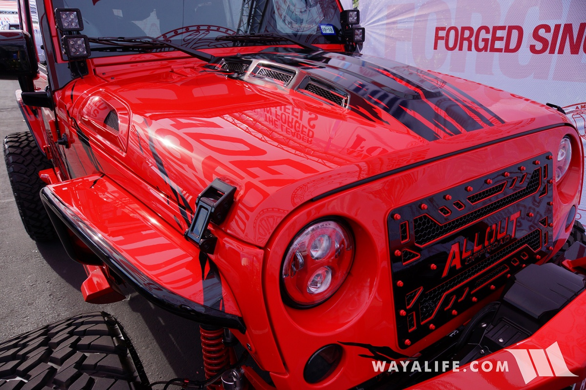 All Out Offroad >> 2017 SEMA American Force Wheels / AllOut OffRoad Red Jeep JK Wrangler Unlimited