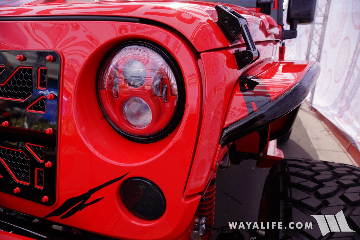 2017 Jeep Wrangler Unlimited Accessories >> 2017 SEMA American Force Wheels / AllOut OffRoad Red Jeep ...