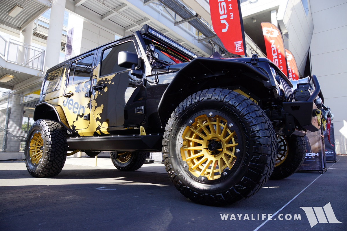 Jeep Wrangler Steps >> 2017 SEMA Vision Wheels Black Jeep JK Wrangler Unlimited