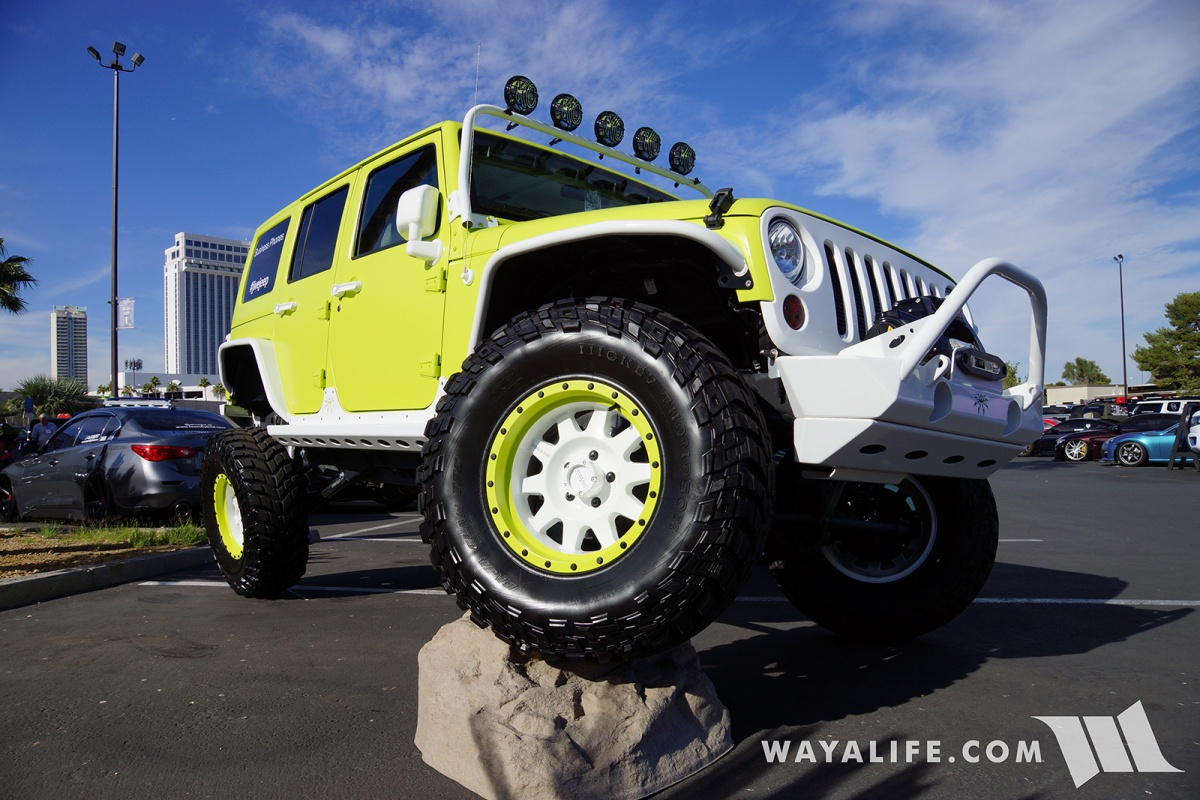 2017 SEMA Jive Jeep Lime Green Jeep JK Wrangler Unlimited