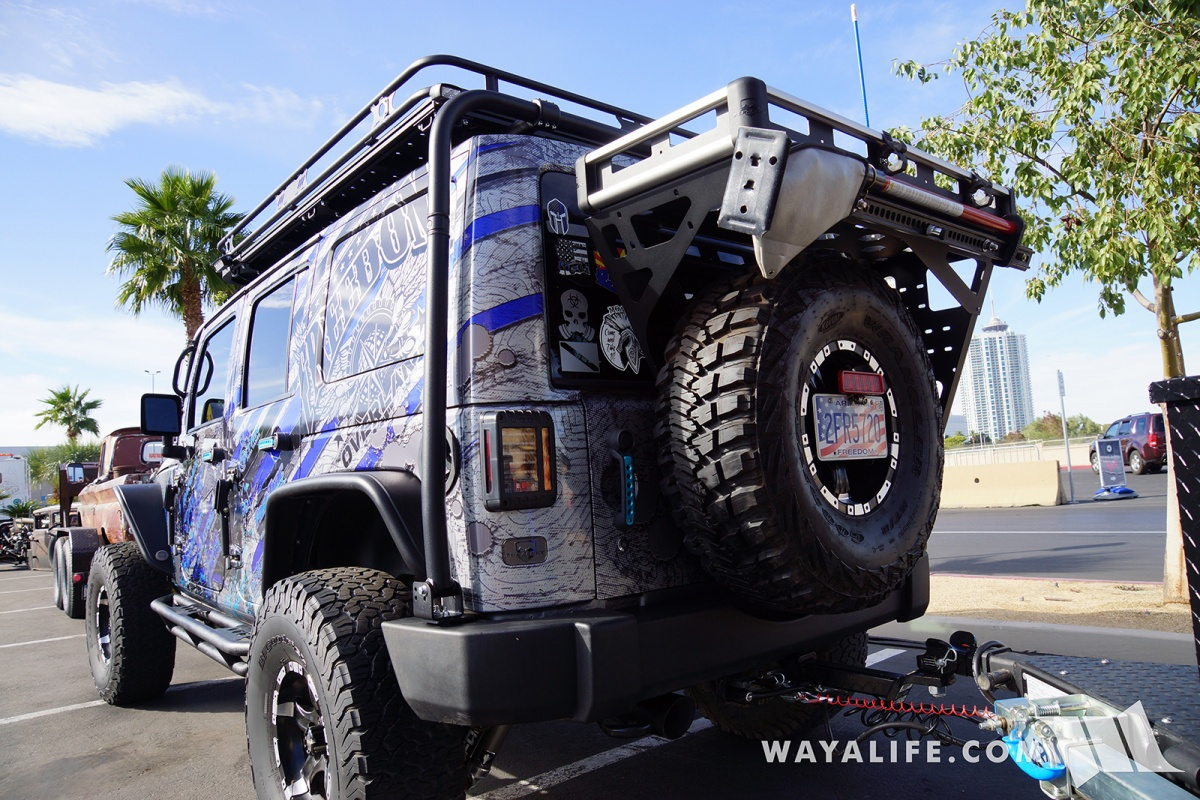 Carson City Jeep >> 2017 SEMA Freedom Overland Blue Jeep JK Wrangler Unlimited + Trailer