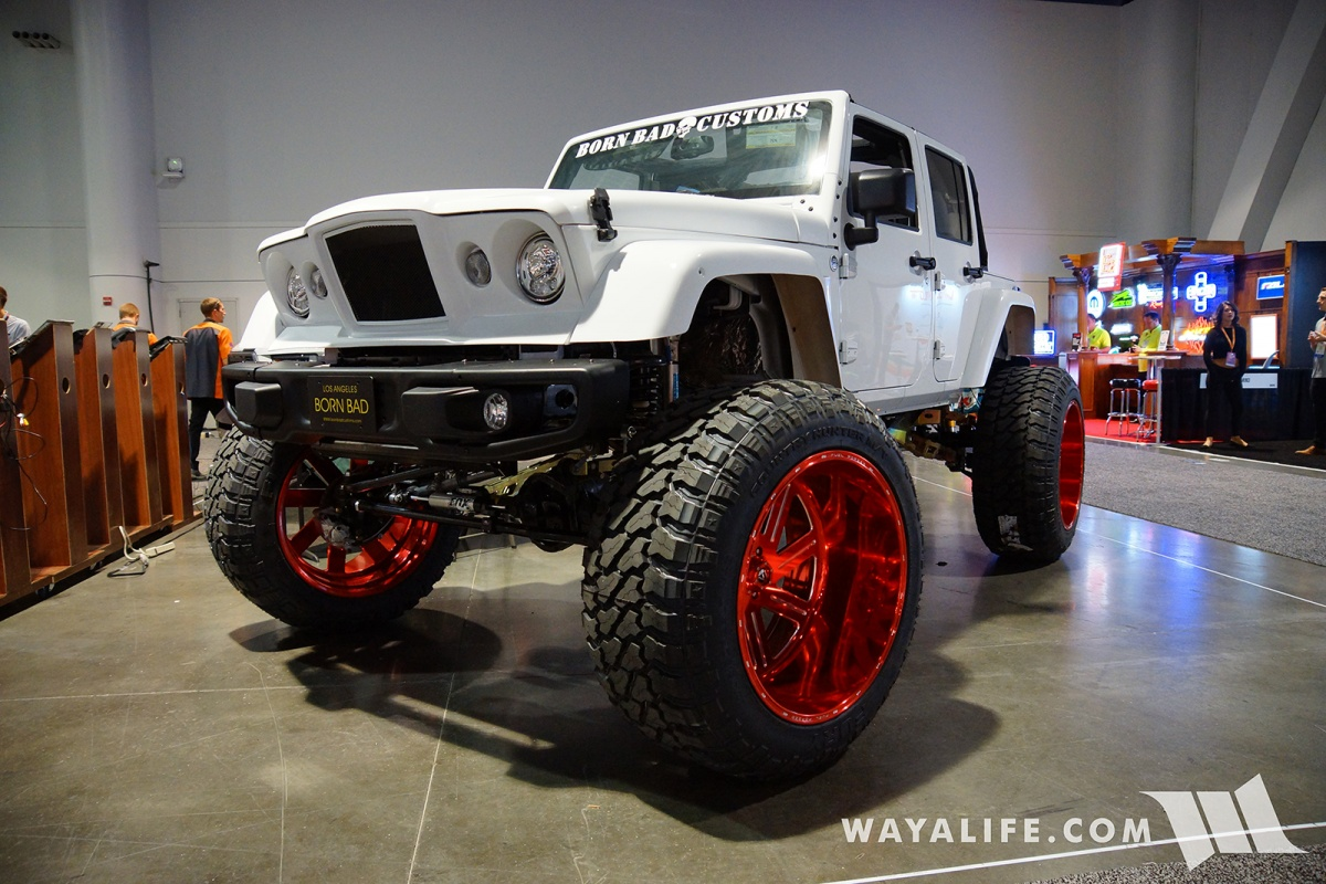 2017 Sema Born Bad Customs White Jeep Jk Wrangler