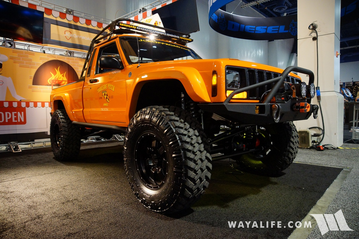 Watch also Softopper moreover Jeep Crew Chief 715 So Wird Das Neue Wrangler Pick Up 289 as well 49448 2017 SEMA JCR Offroad Orange Jeep  anche in addition 2004 Jeep Grand Cherokee Pictures C2391 pi36504444. on jeep comanche