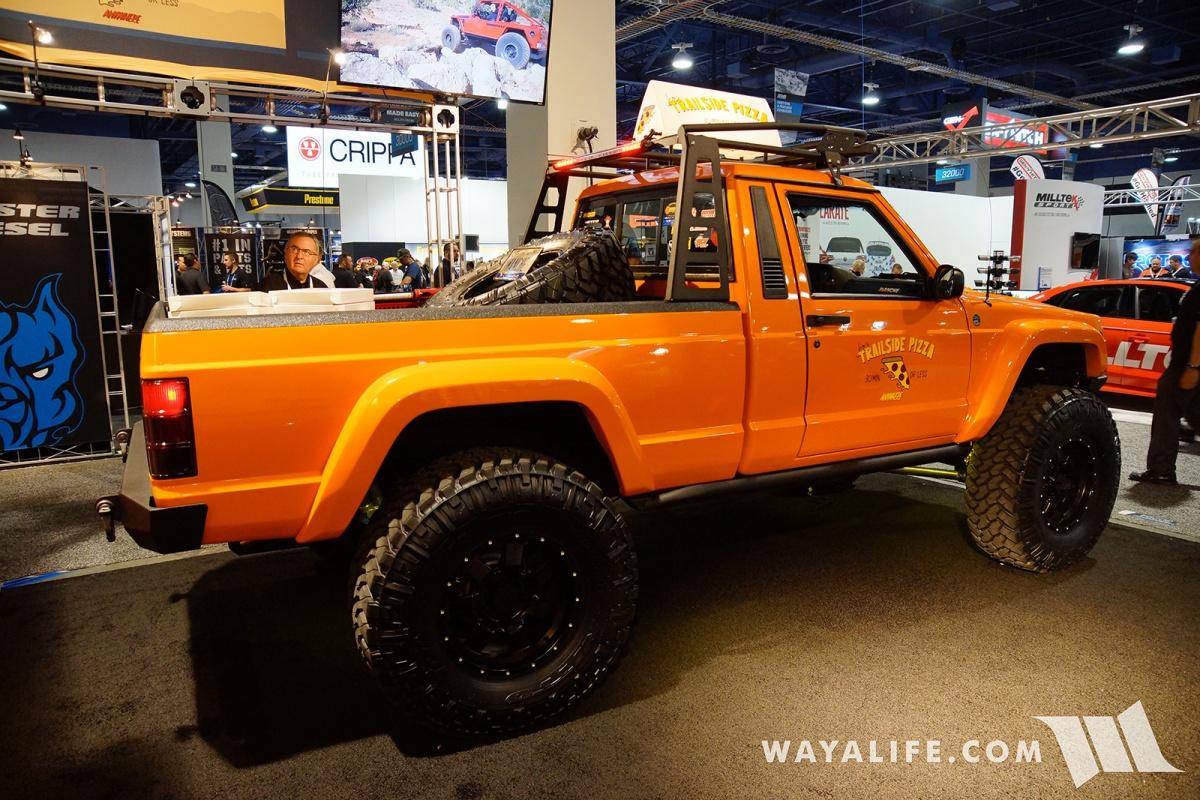 2017 SEMA JCR Offroad Orange Jeep Comanche