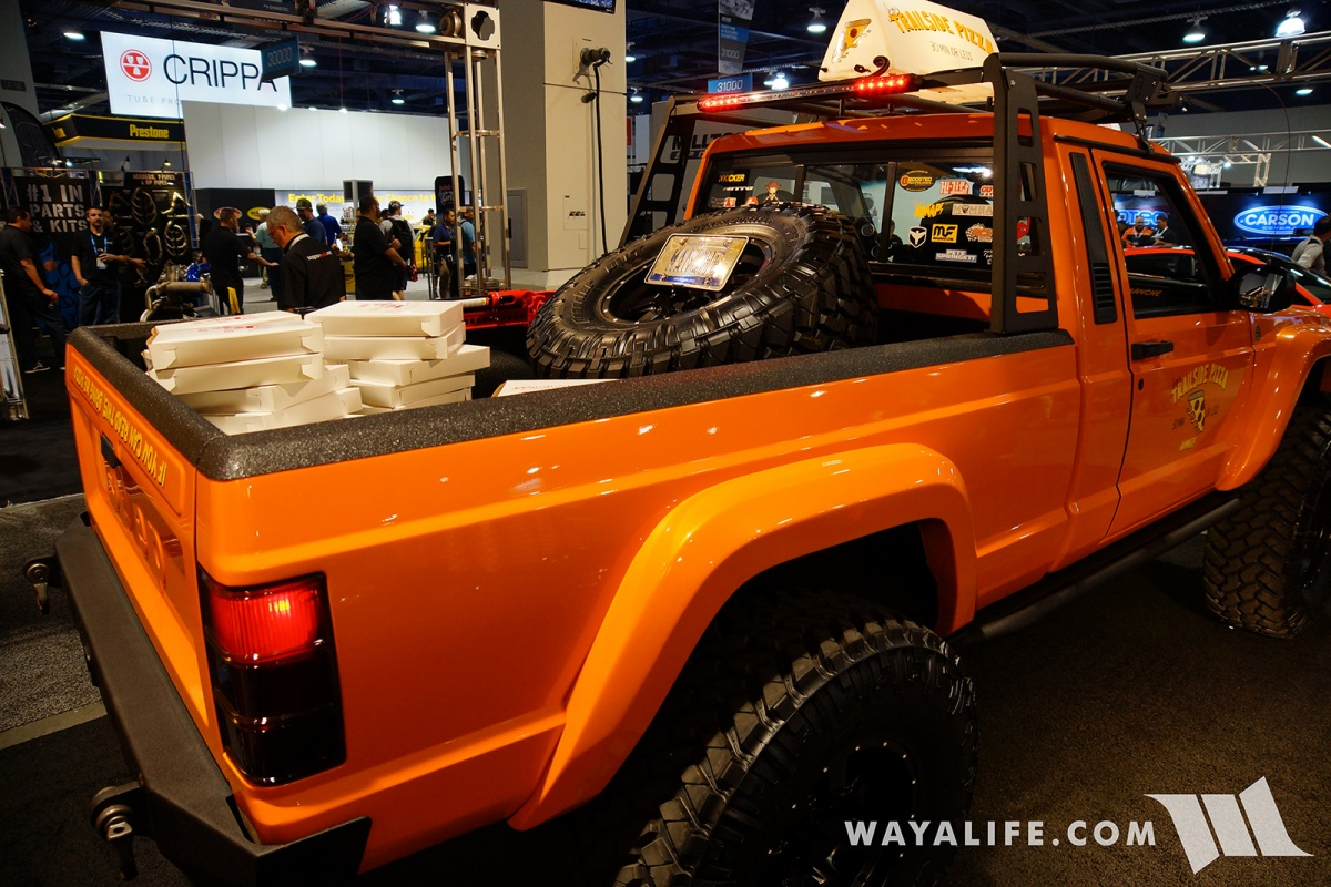 2017 Sema Jcr Offroad Orange Jeep Comanche