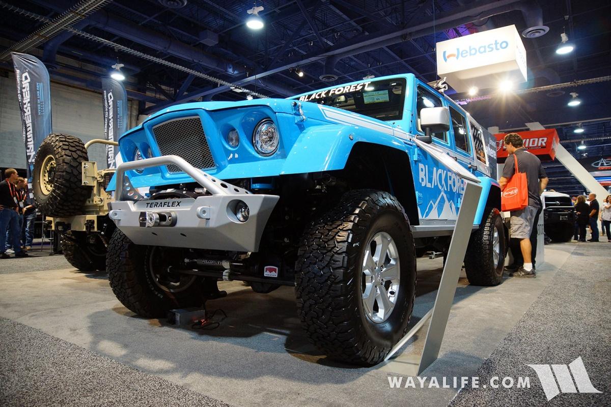 2017 Sema Black Forest Blue Jeep Jk Wrangler Unlimited