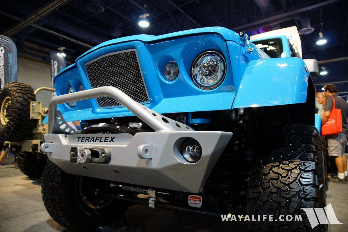 2017 SEMA Black Forest Blue Jeep JK Wrangler Unlimited ...