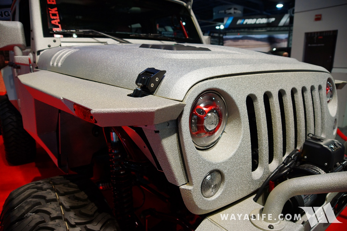2017 sema rhino lining jeep jk wrangler unlimited for Rhino liner jeep exterior cost