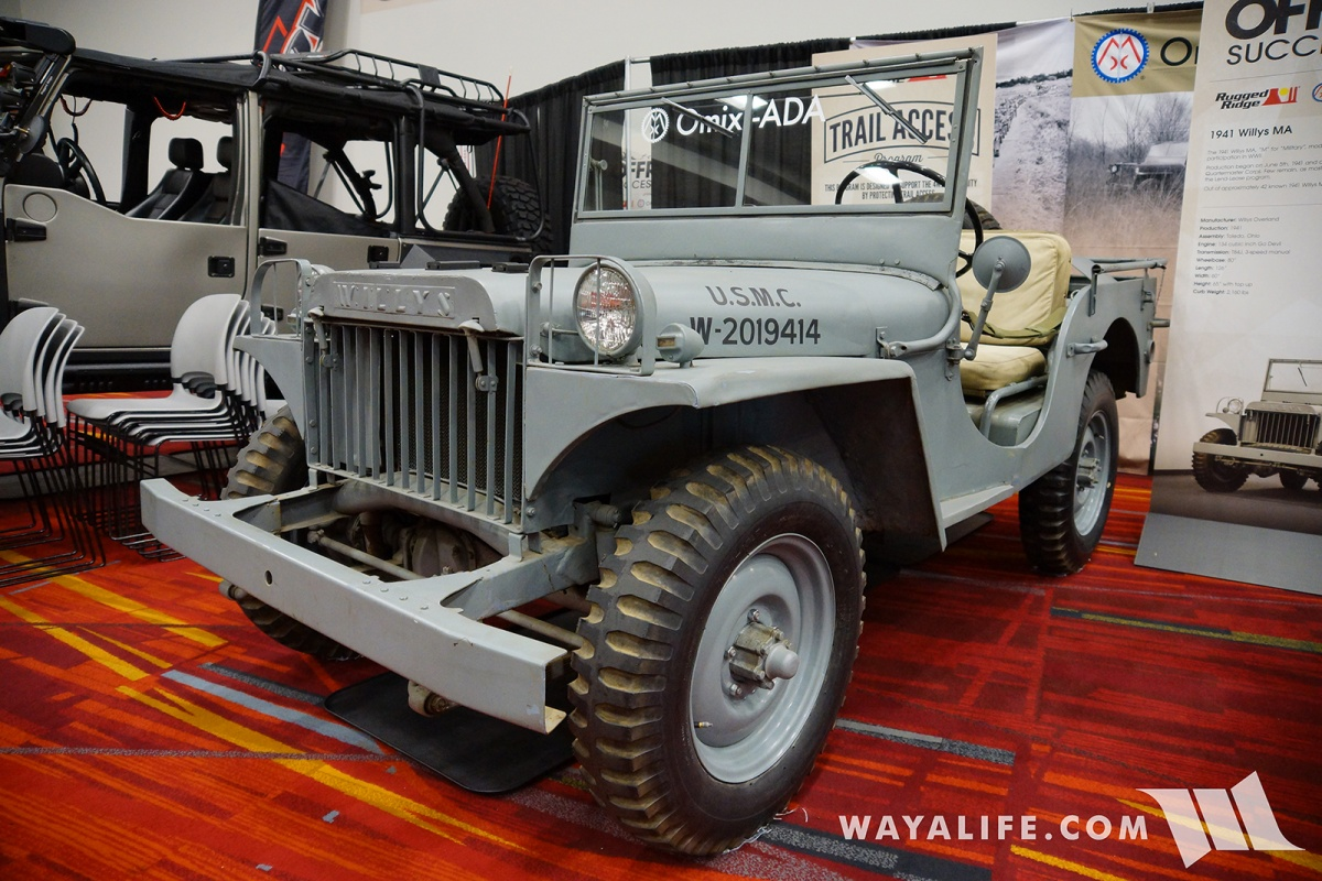 2017 Sema Omix Ada 1941 Willys Ma Jeep Pickup Trucks Brought Out A Whole Collection Of Super Rare Military Jeeps To The Show And First Which Was This Beautiful