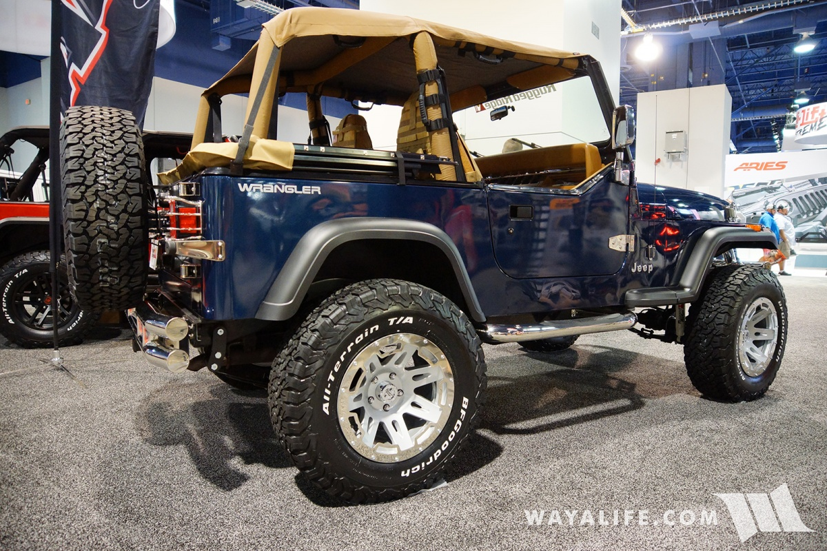 2017 Jeep Wrangler Unlimited Accessories >> 2017 SEMA Rugged Ridge Blue Jeep YJ Wrangler