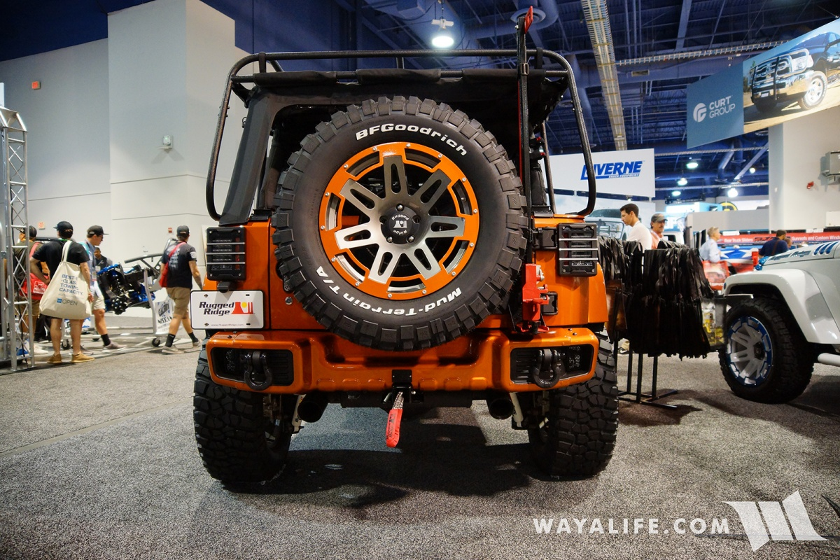 2017 Jeep Wrangler Unlimited Rubicon >> 2017 SEMA Rugged Ridge Orange Jeep JK Wrangler Unlimited