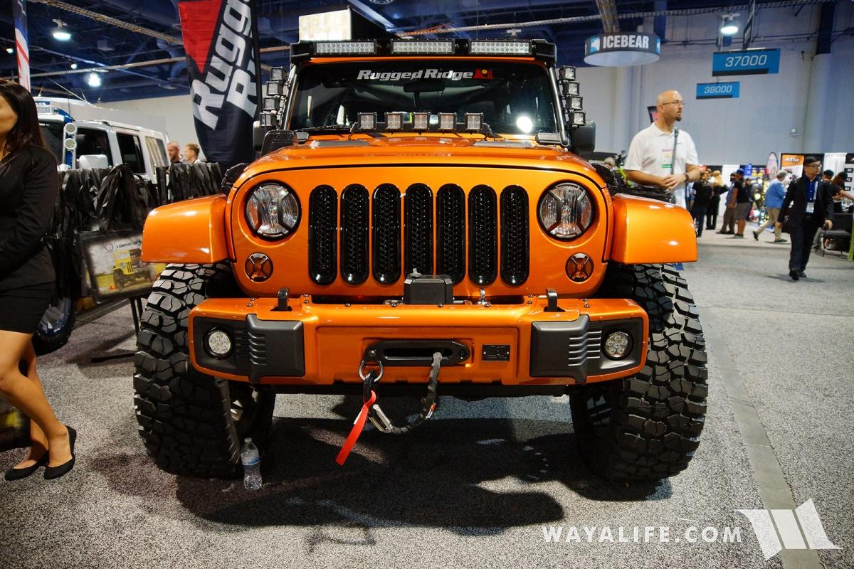 2017 SEMA Rugged Ridge Orange Jeep JK Wrangler Unlimited