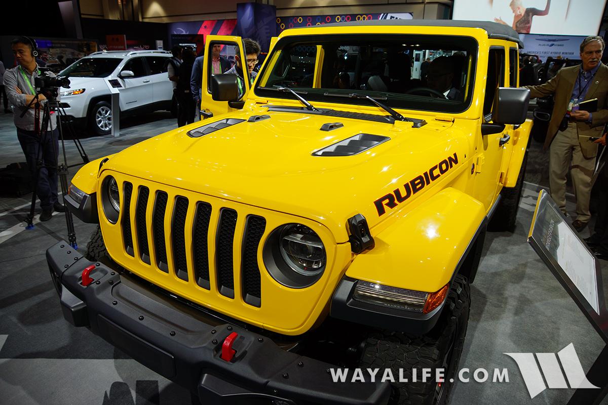 2017 La Auto Show Yellow Jeep Jl Wrangler Rubicon Unlimited